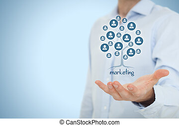 Marketing is a root of a tree in to get and keep customers....