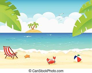 Summer Background - vector illustration of summer...