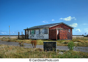 Derelict building - A derelict building, with boarded up...