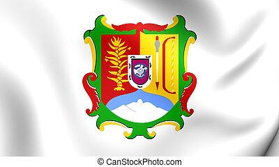 Flag of Nayarit, Mexico. - 3D Flag of Nayarit, Mexico. Close...