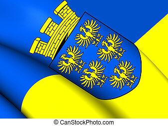 Flag of Lower Austria Close Up