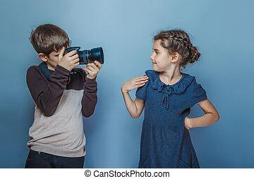 Menino, adolescente, europeu, aparência, fotografias,...