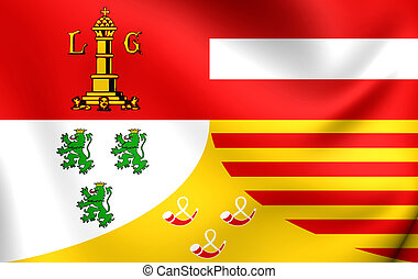 Flag of Liege Province, Belgium - 3D Flag of Liege Province,...