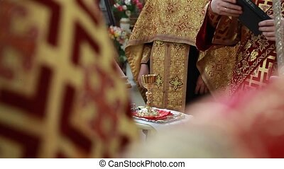 Bread, wine and bible for sacrament or communion