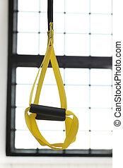 TRX strap - Sport, object. TRX strap in the gym