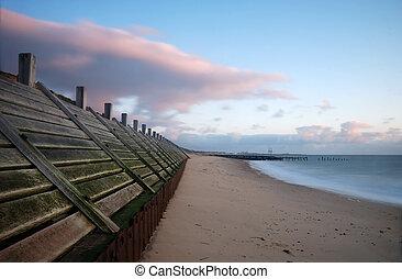 Sea defences, Norfolk