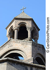 Mother church cupola of Armenian Apostolic Church in Echmiadzin monastery complex,considered the oldest cathedral in the world,Vagharshapat,Central Asia,unesco heritage
