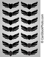 Wings with shields