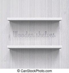Shelves - Two horizontal wooden shelves. Illustration for...