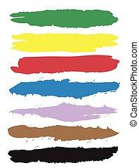 colour palette lines, vector