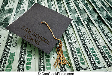 Law School loans - Law School Loans graduation cap on...