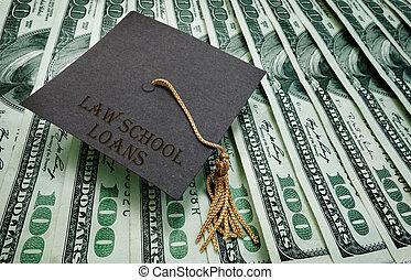 Law School loans - Law School Loans graduation cap on...