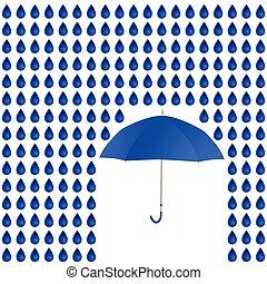 rain and umbrella vector - rain and umbrella blue vector