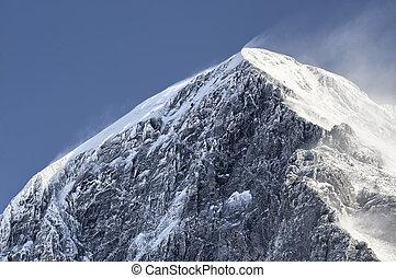 Eiger summit - High winds on the Eiger summit, Kleine...