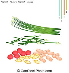 Garlic Chives with Vitamin K, C, A, B9 and Minerals -...