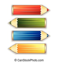 Pencils isolated on white background.