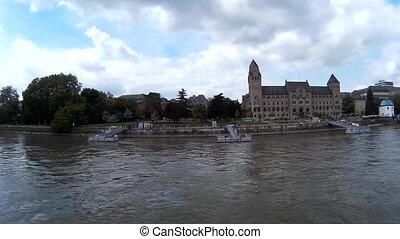 Panorama View of the River Rhine