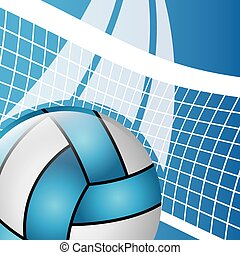 volleyball emblem design - volleyball sport design, vector...