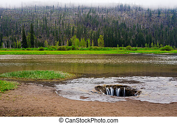 Lost Lake Lava Tube Drain in Central Oregon - Lost Lake...