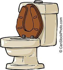 Cartoon Toilet - Toilet bowl on a white background vector...