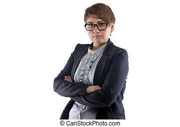 Photo of business woman with short hair