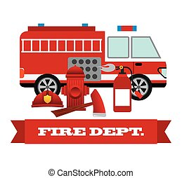 firefighter label design, vector illustration eps10 graphic