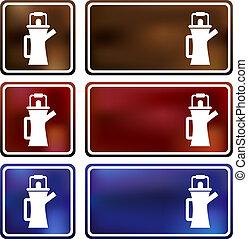 Coffee Pot Cloud Icon - Coffee pot cloud icon isolated on a...