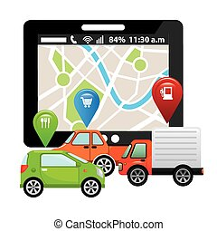 gps tech design, vector illustration eps10 graphic