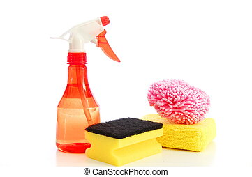 isolated cleaning supplies