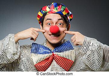 sombre, rigolote,  clown, contre, fond