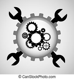 gear setup design, vector illustration eps10 graphic