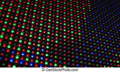 RGB LED Display as Technology Background - Red, Green and...