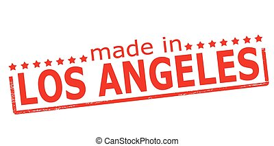 Made in Los Angeles - Rubber stamp with text made in Los...