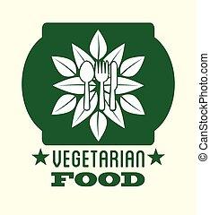 vegetarian food design, vector illustration eps10 graphic