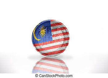 euro coin with malaysian flag on the white background