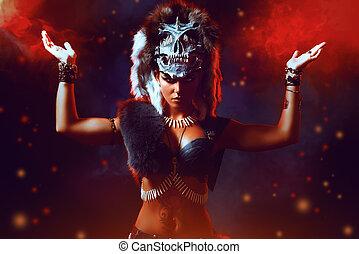 bellicose - Amazing bellicose Amazon woman in battle....
