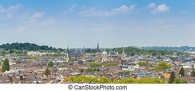 Aachen skyline with cathedral and town hall - The city of...
