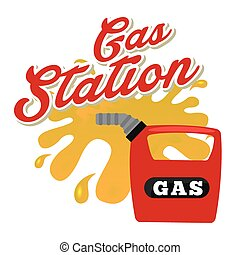 gas station design, vector illustration eps10 graphic
