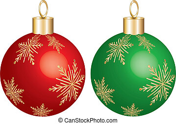 ornament red green