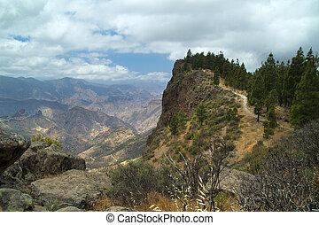 Gran Canaria, mountain village Artenara - Gran Canaria,...