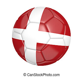 Soccer ball with flag of Denmark - Soccer ball, or football,...