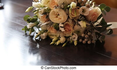Bridal Bouquet on table summer