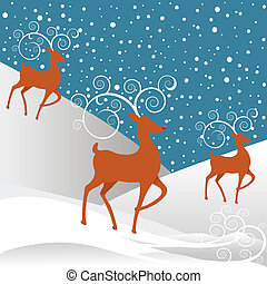 Rudolph Reindeer Christmas Background - Rudolph the...