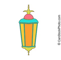 Arabic Colorful Lamp for Ramadan Kareem