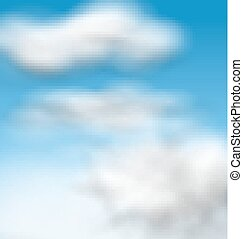 Background Blue Sky Fluffy Clouds