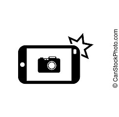 Icon of Smart phone for Photo Selfie