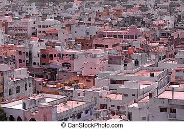Hyderabad suburbs in India