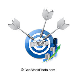 concept business target graph sign