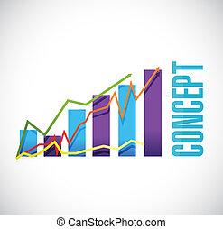 concept business graph sign concept
