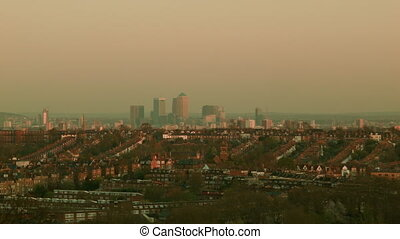 Canary Wharf cityscape - London cityscape in the afternoon...